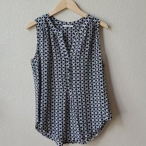 41 HAWTHORN 100%SILK printed sleeveless blouse ?